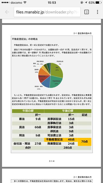 スタディングの司法書士通勤講座スマホ画面06(PDFテキスト)